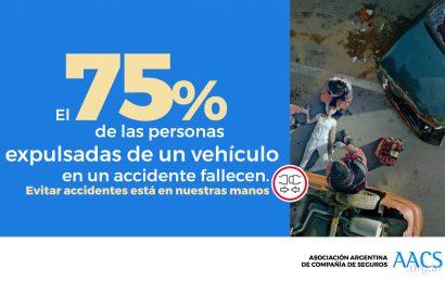 Accidentes de tránsito: 75% de las personas expulsadas de un vehículo en un accidente fallecen
