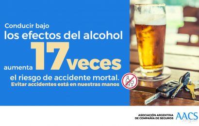1 de cada 4 accidentes de tránsito se produce por el consumo de alcohol